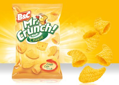 Crispy Corn Snack MR CRUNCH! 3D Cheese