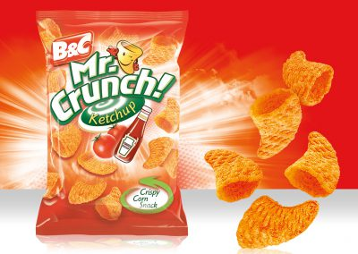 Crispy Corn Snack MR CRUNCH! 3D Ketchup