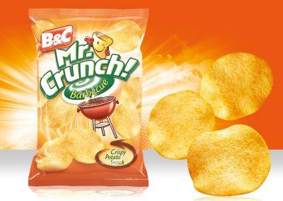 Crispy Potato Snack MR CRUNCH! Rounded Barbecue