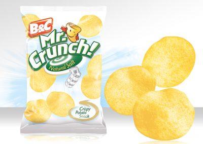 Crispy Potato Snack MR CRUNCH! Rounded Natural Salt