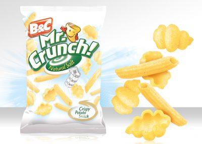 Crispy Potato Snack MR CRUNCH! Pasta Natural Salt