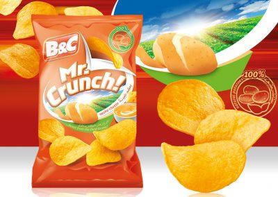 50g MR. CRUNCH! nacho cheese