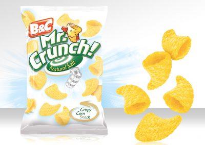 Crispy Corn Snack MR CRUNCH! 3D Natural Salt