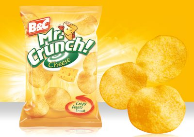 Crispy Potato Snack MR CRUNCH! Rounded Cheese