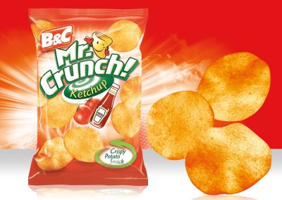 Crispy Potato Snack MR CRUNCH! Rounded Ketchup