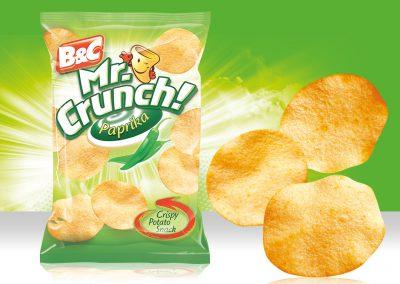 Crispy Potato Snack MR CRUNCH! Rounded Paprika