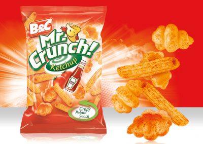 Crispy Potato Snack MR CRUNCH! Pasta Ketchup