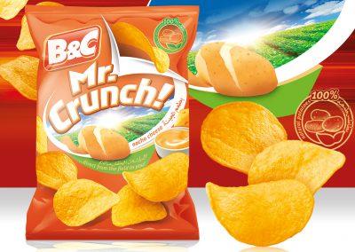 100g MR. CRUNCH! nacho cheese